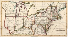 New England, Mid-Atlantic and Midwest Map By Jedidiah Morse  &  Charles Dilly
