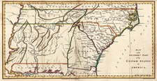 Mid-Atlantic, South and Southeast Map By Jedidiah Morse  &  Charles Dilly