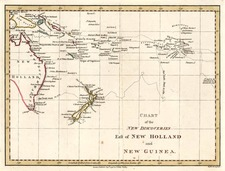 Australia & Oceania, Australia, Oceania and New Zealand Map By Jedidiah Morse  &  Charles Dilly