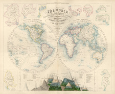 World, World and Curiosities Map By Archibald Fullarton & Co.