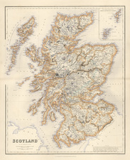 Europe and British Isles Map By Archibald Fullarton & Co.