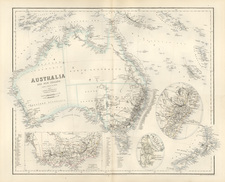 Australia & Oceania, Australia, New Zealand and Other Pacific Islands Map By Archibald Fullarton & Co.