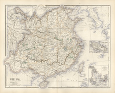 Asia, China and Korea Map By Archibald Fullarton & Co.