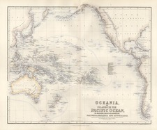 World, Australia & Oceania, Pacific, Oceania and Other Pacific Islands Map By Archibald Fullarton & Co.