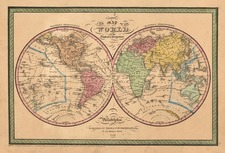 World and World Map By Thomas, Cowperthwait & Co.