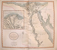 Middle East, Egypt and North Africa Map By John Cary