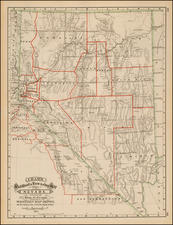 Southwest, Nevada and California Map By George F. Cram