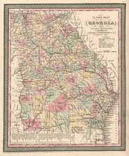Southeast Map By Thomas, Cowperthwait & Co.
