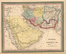 Asia, Central Asia & Caucasus and Middle East Map By Thomas, Cowperthwait & Co.