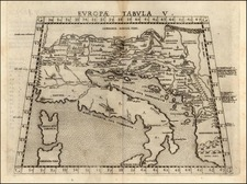 Europe, Balkans and Italy Map By Girolamo Ruscelli