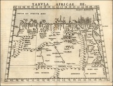 Africa and North Africa Map By Girolamo Ruscelli