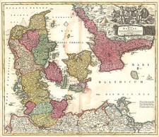 Europe, Germany and Scandinavia Map By Johann Baptist Homann