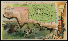 Plains and Southwest Map By Arbuckle Brothers Coffee Co.
