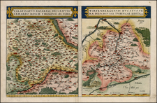 France and Germany Map By Abraham Ortelius