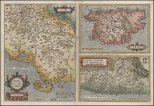 France, Italy and Balearic Islands Map By Abraham Ortelius