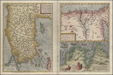 Asia, Middle East, Turkey & Asia Minor, Africa and North Africa Map By Abraham Ortelius