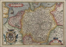 Europe, Netherlands, Germany, Poland and Baltic Countries Map By Abraham Ortelius