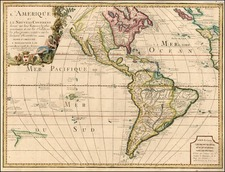South America, Australia & Oceania, Oceania, New Zealand and America Map By Jean-Baptiste Nolin