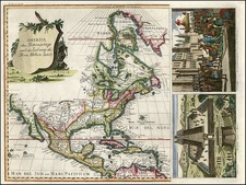 North America Map By Johann Justine Gebauers