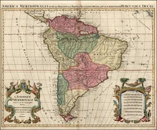 South America Map By Reiner & Joshua Ottens