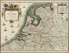 Netherlands and Germany Map By Pierre-Nicolas Buret de  Longchamps