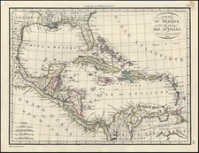 South, Southeast, Texas and Caribbean Map By Alexandre Emile Lapie