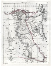 Asia and Middle East Map By Alexandre Emile Lapie