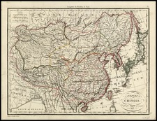 Asia, China, Japan and Korea Map By Alexandre Emile Lapie