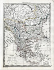 Europe, Balkans, Greece and Turkey Map By Alexandre Emile Lapie