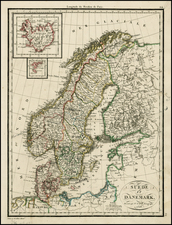 Europe and Scandinavia Map By Alexandre Emile Lapie