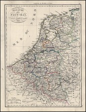 Europe and Netherlands Map By Alexandre Emile Lapie