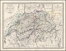 Europe and Switzerland Map By Alexandre Emile Lapie