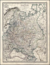 Europe and Russia Map By Alexandre Emile Lapie