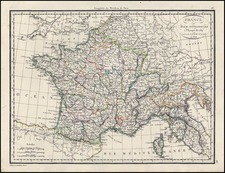 Europe, France and Italy Map By Alexandre Emile Lapie