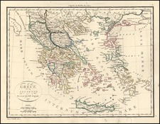 Europe, Greece and Balearic Islands Map By Alexandre Emile Lapie