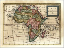 Africa and Africa Map By Herman Moll