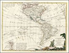 South America, Australia & Oceania, Oceania, New Zealand and America Map By Antonio Zatta