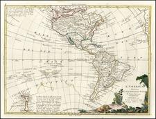 South America, Australia & Oceania, Oceania, New Zealand and America Map By Antonio Zatta