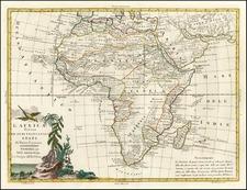 Africa and Africa Map By Antonio Zatta