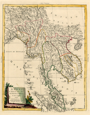 India and Southeast Asia Map By Antonio Zatta