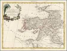 Europe, Balearic Islands, Asia, Middle East and Turkey & Asia Minor Map By Antonio Zatta