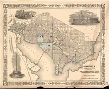 Mid-Atlantic Map By Benjamin P Ward  &  Alvin Jewett Johnson