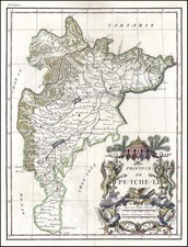 Asia and China Map By Jean-Baptiste Bourguignon d'Anville