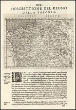 Europe and Poland Map By Giovanni Antonio Magini