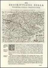 Europe, Hungary and Romania Map By Giovanni Antonio Magini
