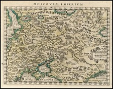 Europe and Russia Map By Giovanni Antonio Magini