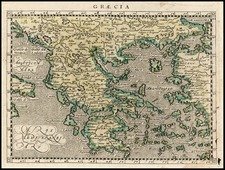 Europe, Greece and Balearic Islands Map By Giovanni Antonio Magini