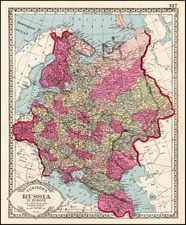 Europe and Russia Map By H.C. Tunison