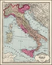Europe and Italy Map By H.C. Tunison