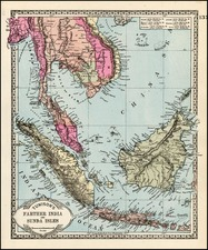 Asia and Southeast Asia Map By H.C. Tunison